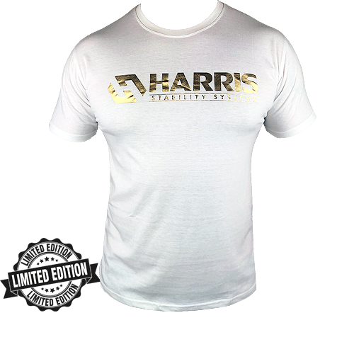 Royal Gold & White Harris Cotton T-Shirt