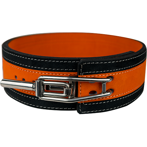 13mm Orange & Black Lever Belt
