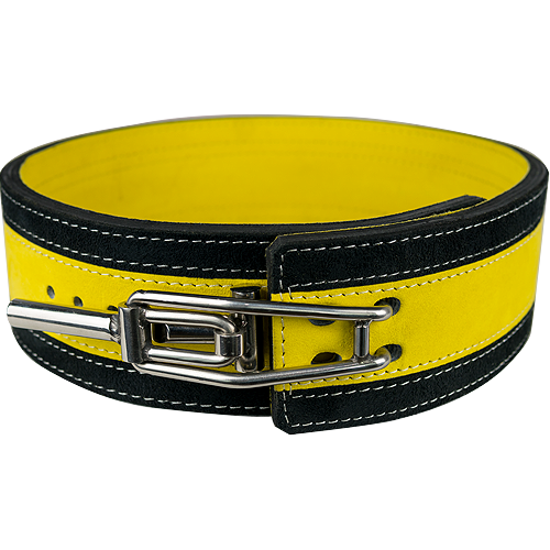 13mm Yellow & Black Lever Belt
