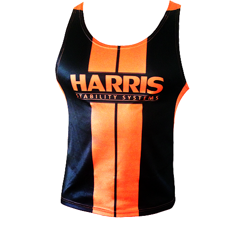 Harris Sublimation Gym Singlet - Orange [Size: 4XL]