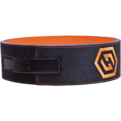 10mm Harris Black & Orange Powerlifting Lever Belt