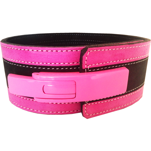 10mm Pink & Black Lever Belt [Size: XS]
