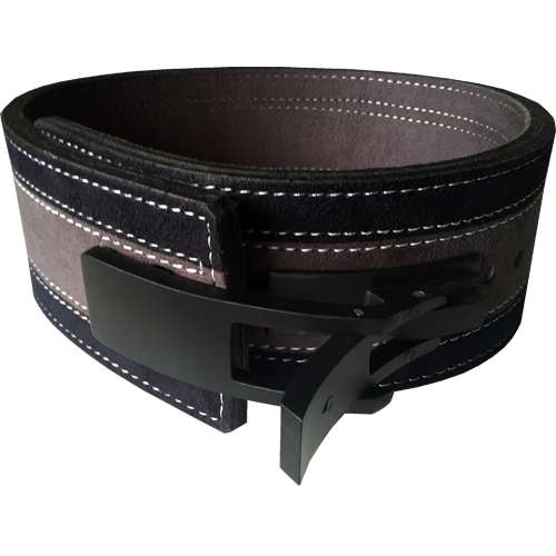 13mm Grey & Black Lever Belt [Size: XS]