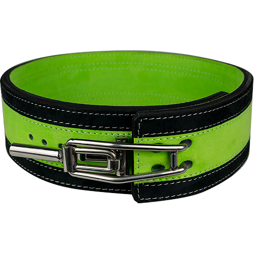13mm Green & Black Lever Belt