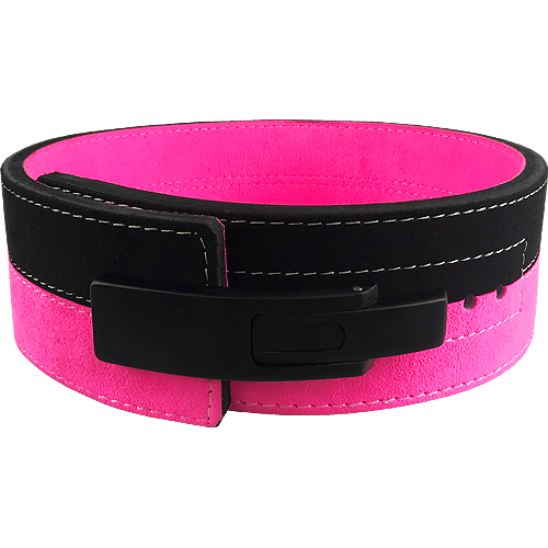 13mm Pink & Black Lever Belt