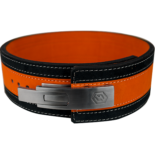 13mm Orange & Black Lever Belt [Size: Medium]