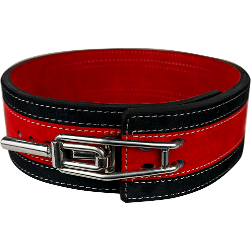 13mm Red & Black Lever Belt [Size: XS]