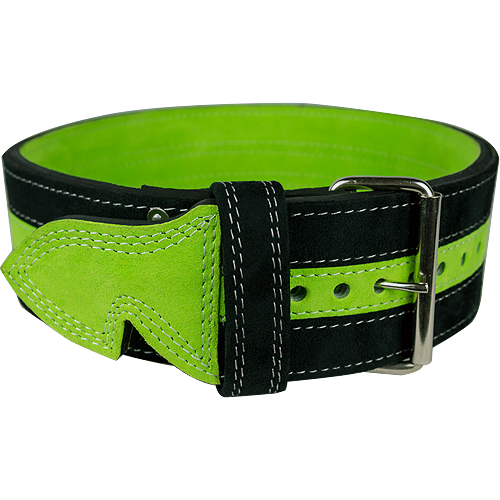 13mm Green & Black Single Prong Belt